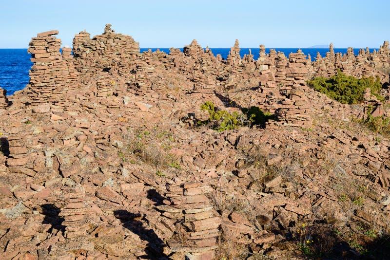 Kalksteintürme stockbild