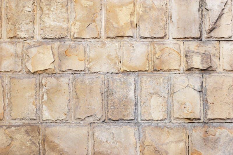 Kalksteinziegelsteinhintergrund stockfoto