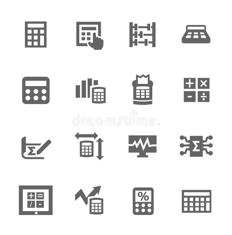 Kalkulacyjna ikona ilustracji