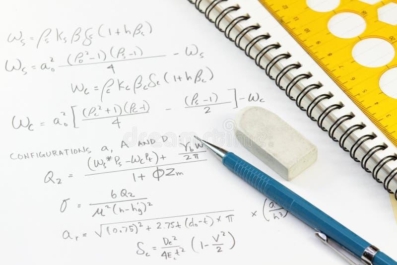 kalkulacyjne notatki obraz stock