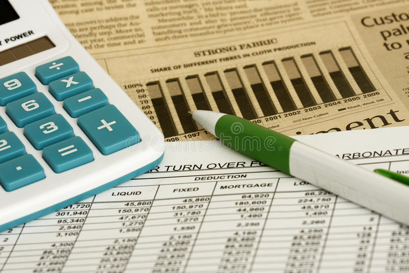 Kalkulationstabelle lizenzfreie stockfotos