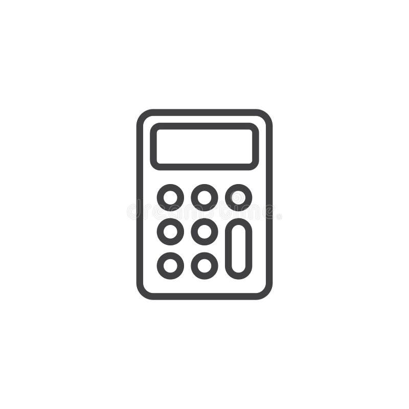 Kalkulatorów guzików kreskowa ikona ilustracja wektor