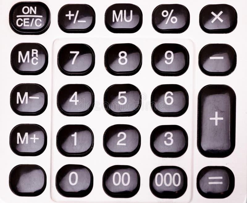 Kalkulatorów guziki fotografia stock