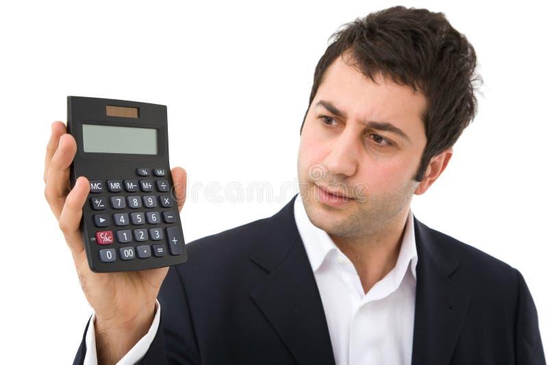 kalkulator biznesmena zdjęcia stock