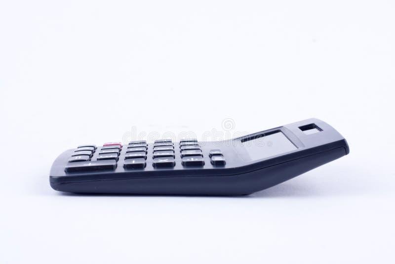 Kalkulator dla kalkulować liczby rozlicza księgowość biznesowy obliczenie na białym tle odizolowywającym obrazy stock