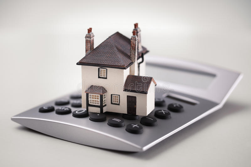 kalkulator hipoteka zdjęcie royalty free