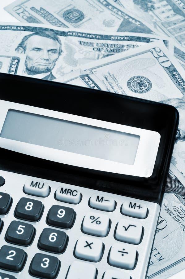 Kalkulator i dolary zdjęcia royalty free