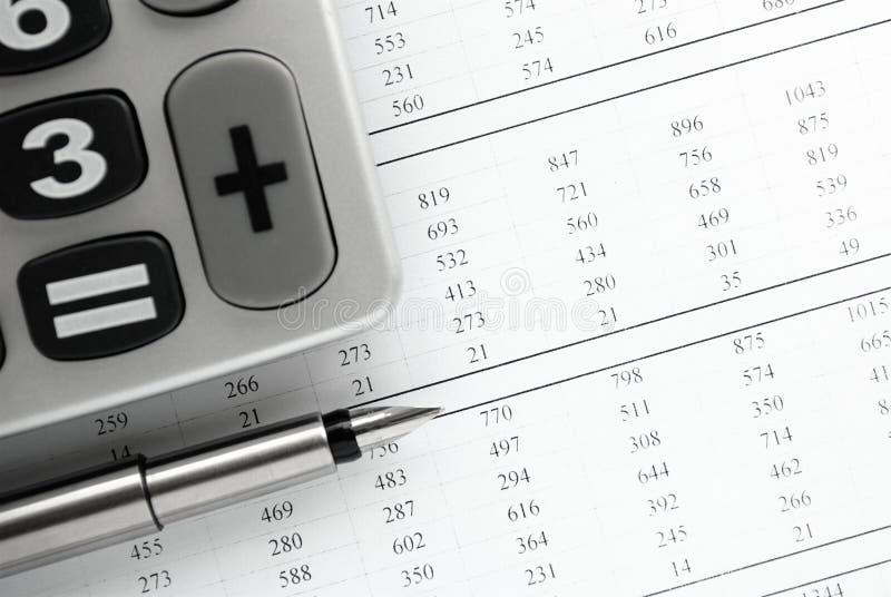 Kalkulator i materiały rzeczy obrazy royalty free