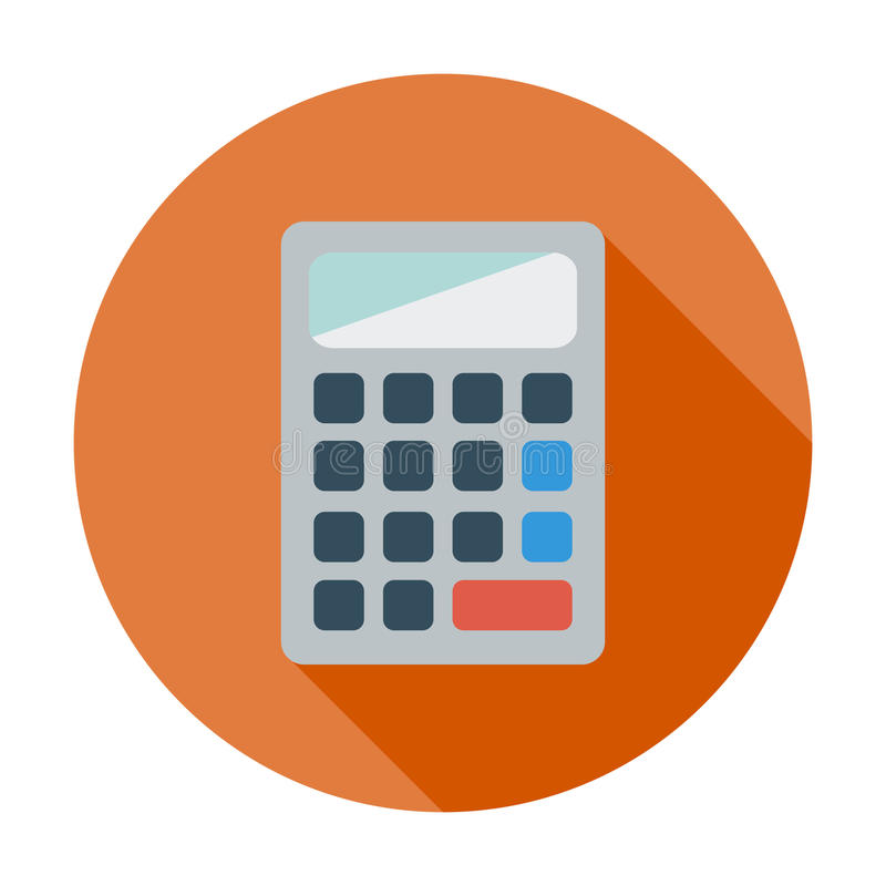 Kalkulator ikona ilustracji