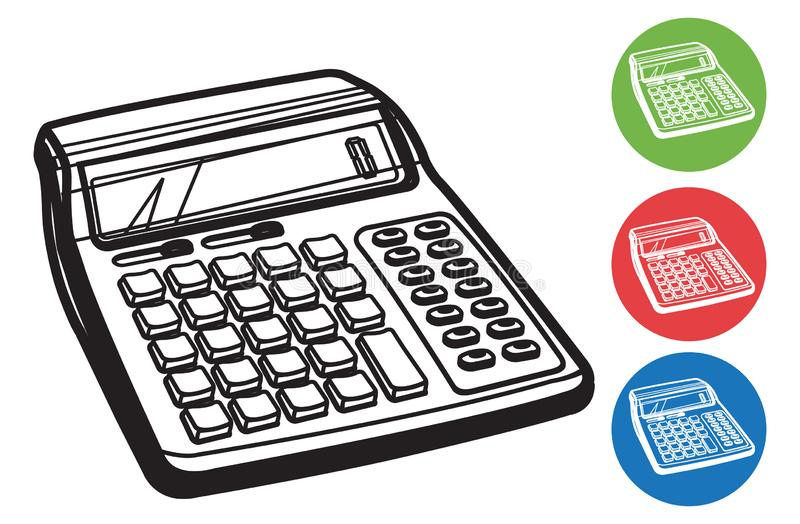 Kalkulator ikona - ilustracja ilustracja wektor