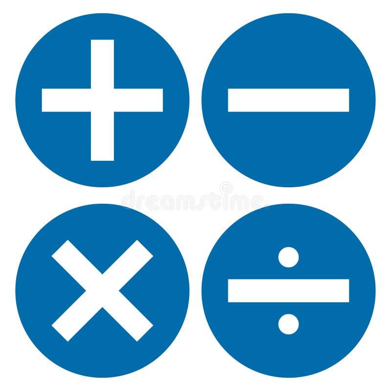 Kalkulator ikona, matematyka symbol wektor royalty ilustracja