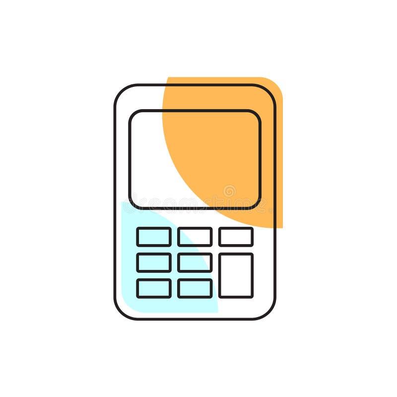 Kalkulator ikona Szkolny element dla projekta ilustracja wektor