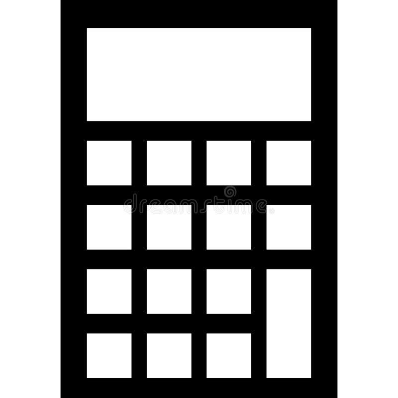 Kalkulator ikony wektor royalty ilustracja