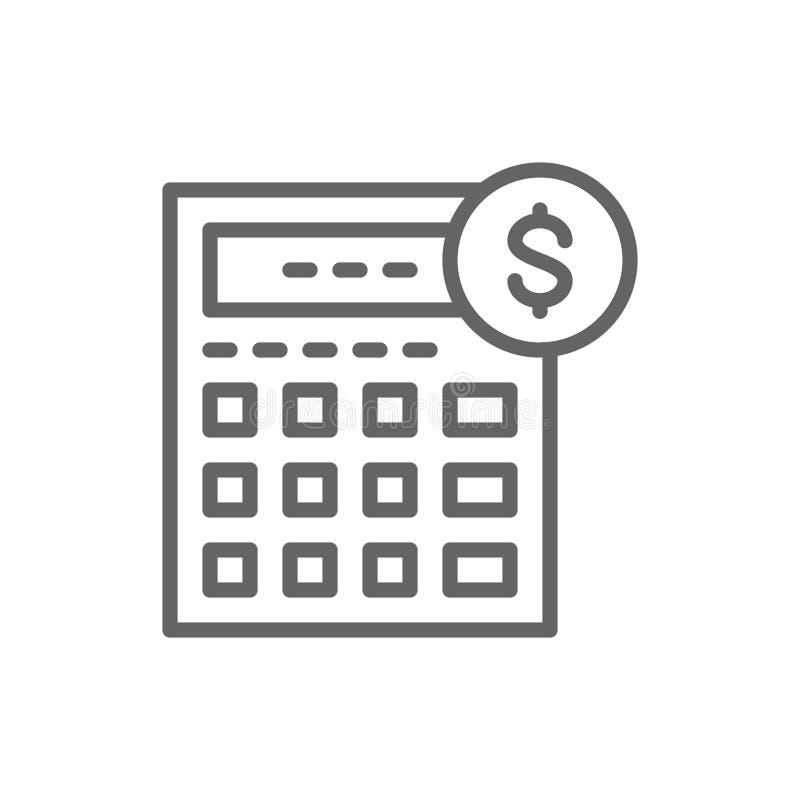 Kalkulator, ksi?gowo??, ksi?gowo??, finanse, gospodarki kreskowa ikona royalty ilustracja