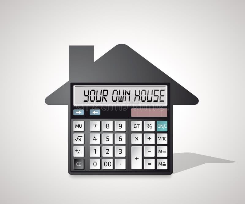 Kalkulator - kupować dom ilustracja wektor