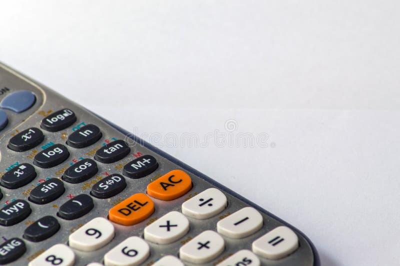 Kalkulator nauki szczegół makro- obrazy royalty free