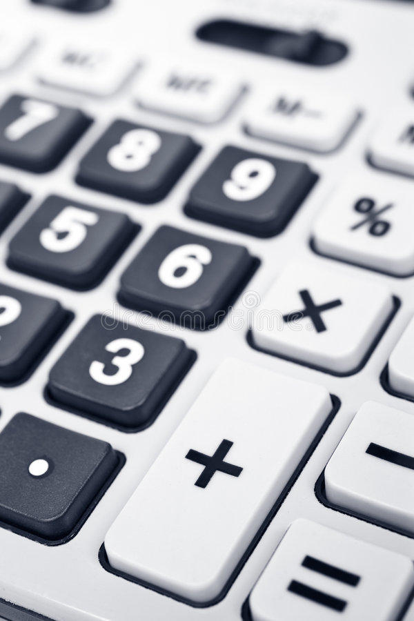 kalkulator szczegółów klawiatura fotografia stock