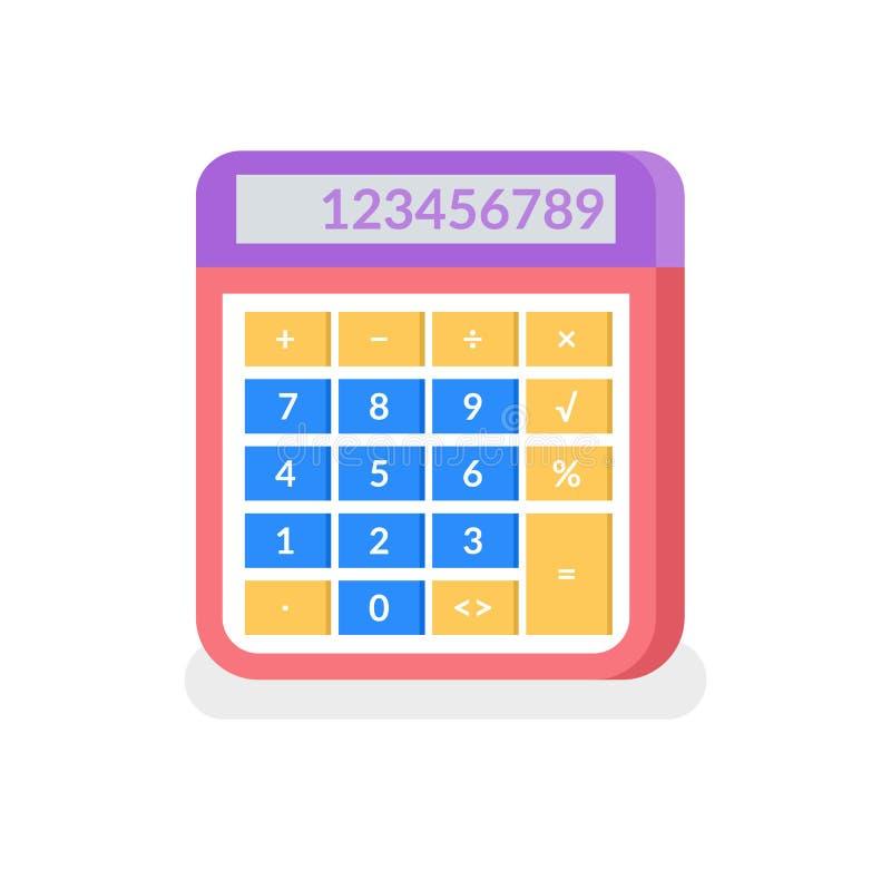 Kalkulator z liczbami i Rozwiązywać Odosobnioną ikonę royalty ilustracja