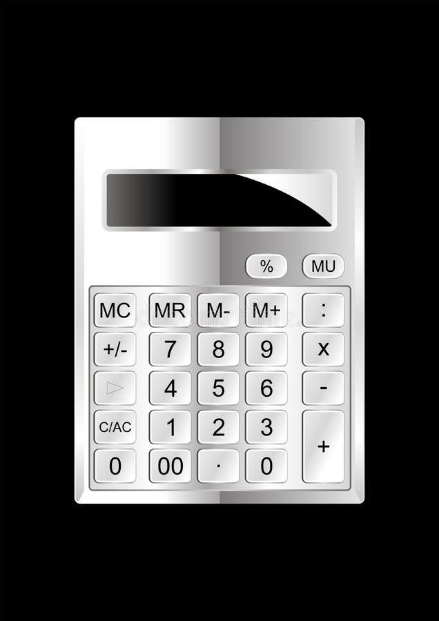 Download Kalkulatora chrom ilustracji. Ilustracja złożonej z komputer - 13336888