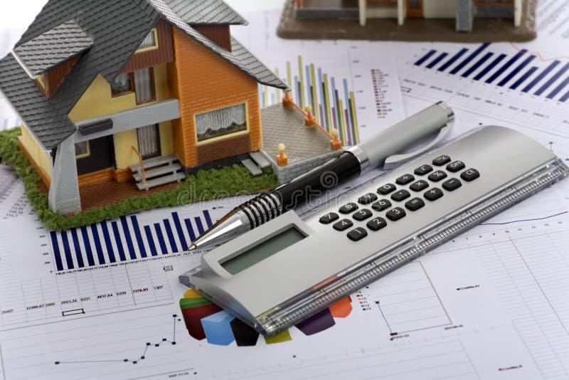 kalkulatora domu model obrazy royalty free