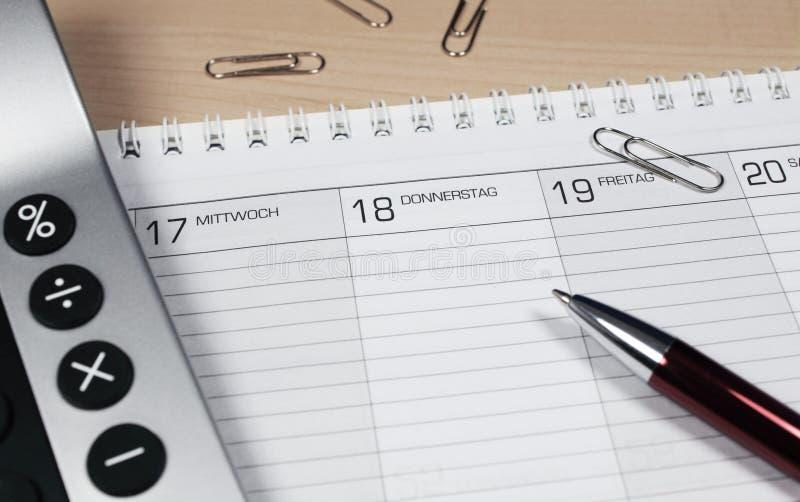 kalkulatora kalendarz fotografia stock
