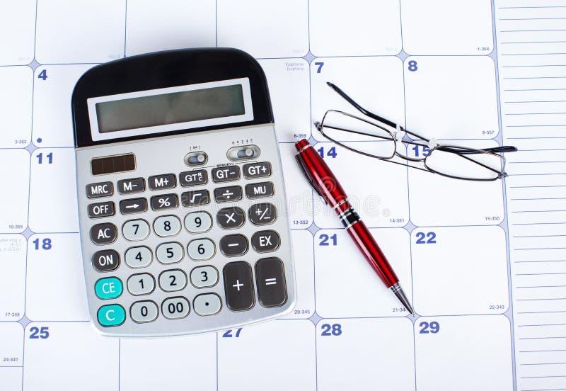 kalkulatora kalendarz fotografia royalty free