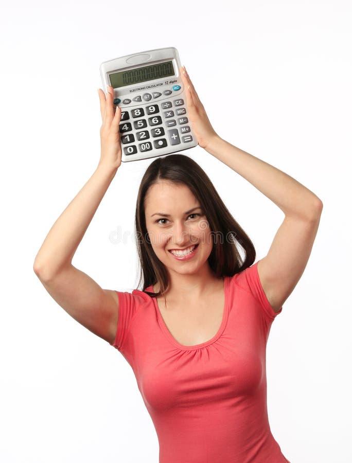 kalkulatora kobiety potomstwa fotografia stock