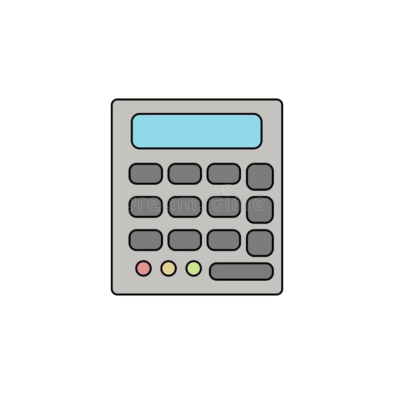 kalkulatora konturu koloru ikona ilustracja wektor