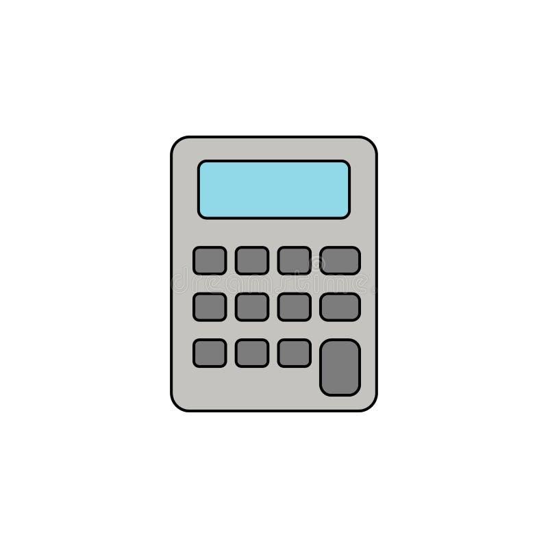 kalkulatora konturu koloru ikona ilustracji