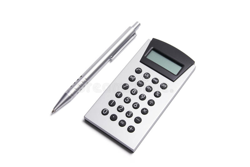 kalkulatora pióro obrazy royalty free