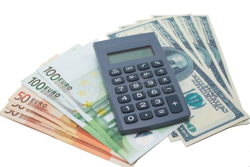 kalkulatora pieniądze obrazy royalty free