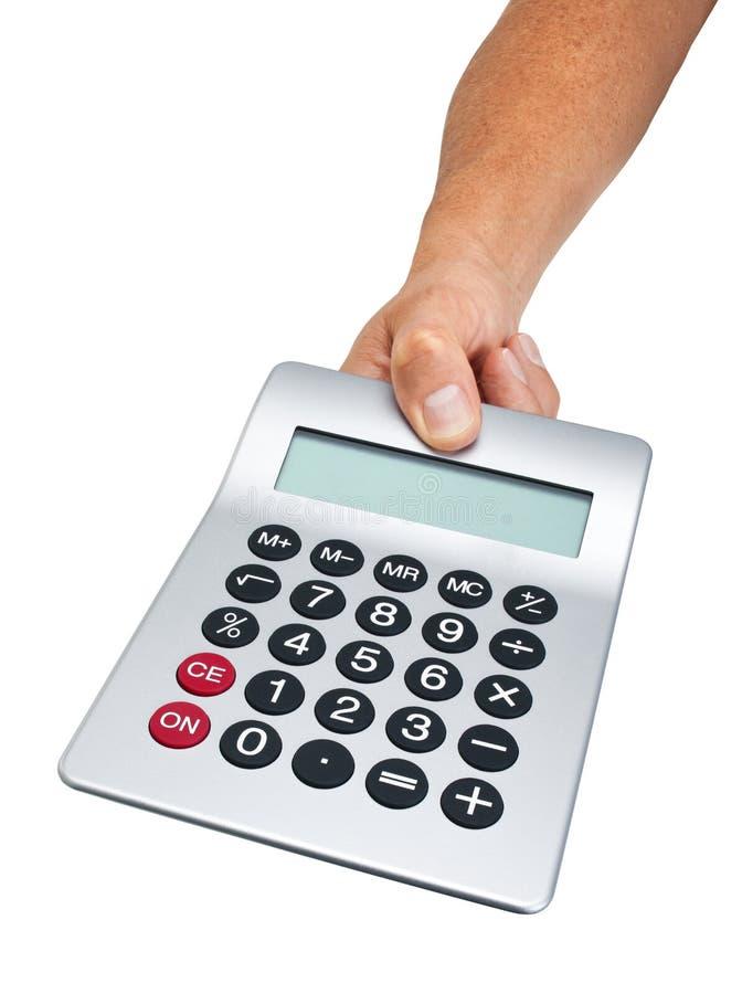 kalkulatora ręki mienie zdjęcie stock