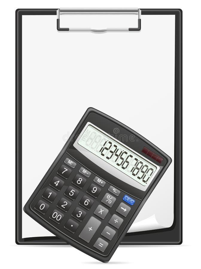 Download Kalkulatora Schowek I Pusty Prześcieradło Papier Ilustracja Wektor - Ilustracja złożonej z odosobniony, dane: 28957110
