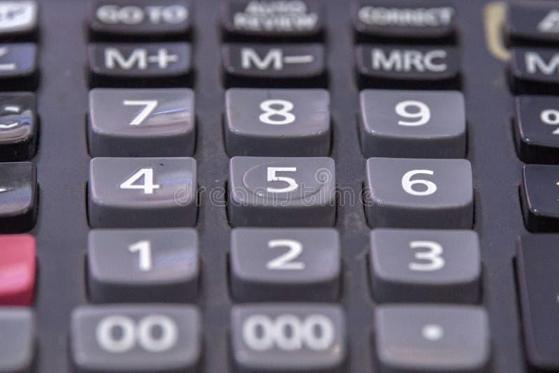 Kalkulatora szczegółu zakończenie w górę makro- zdjęcie royalty free