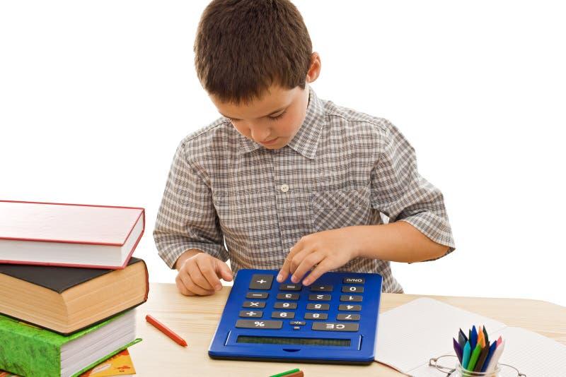 kalkulatora uczeń obrazy royalty free