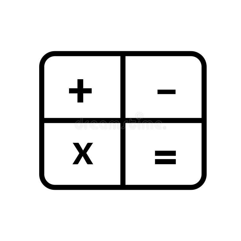 Kalkulatora wektoru ikona ilustracja wektor