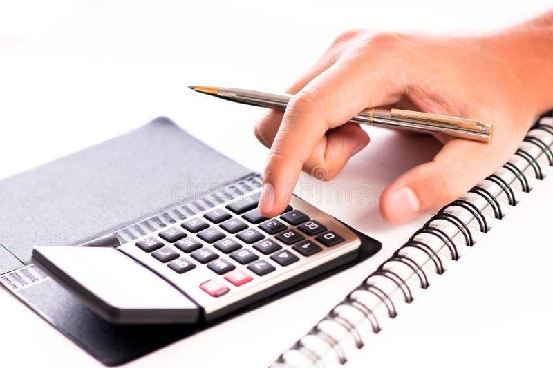 kalkulatorscy koszty zdjęcie royalty free