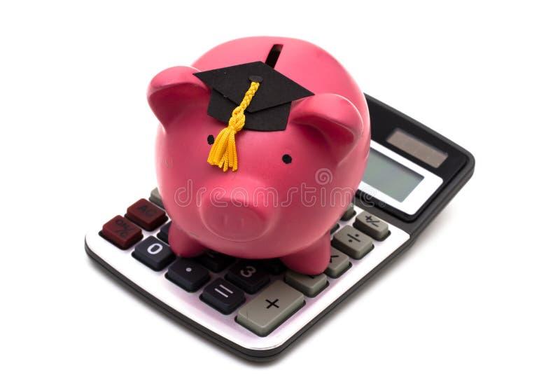 kalkulatorscy oszczędności edukacyjne zdjęcie stock