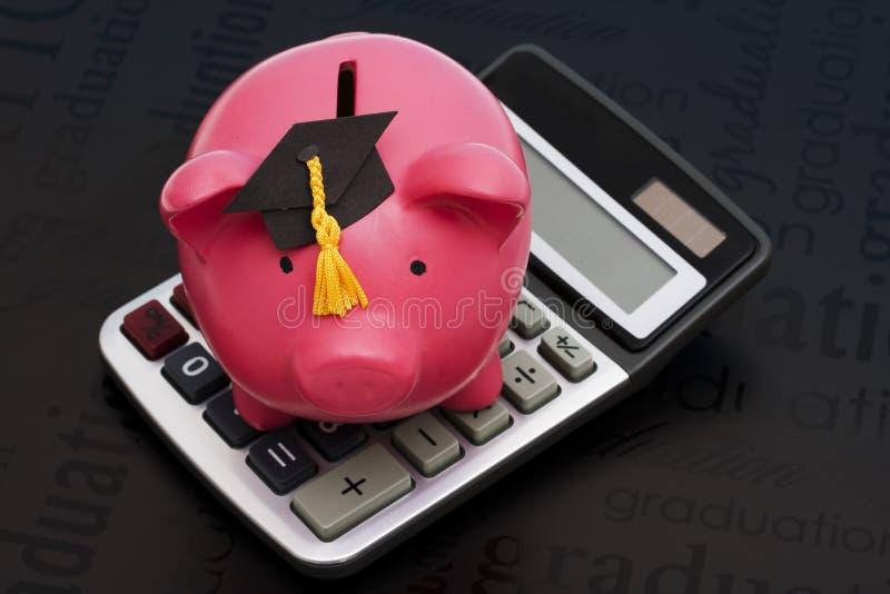 kalkulatorscy oszczędności edukacyjne zdjęcia royalty free