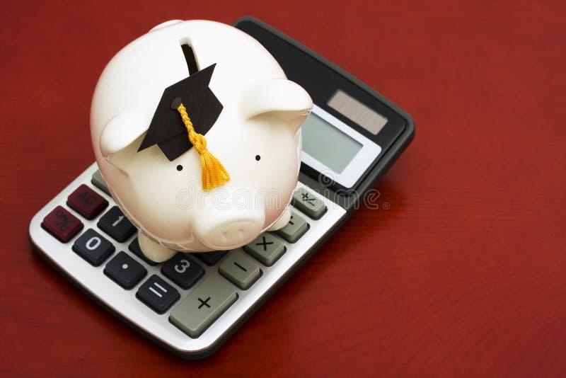 kalkulatorscy oszczędności edukacyjne obrazy stock