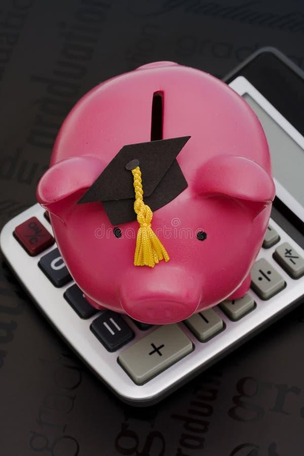 kalkulatorscy oszczędności edukacyjne obrazy royalty free