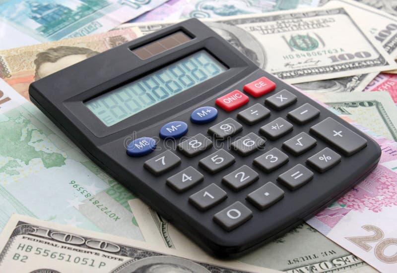 kalkulatorska gotówka obrazy royalty free