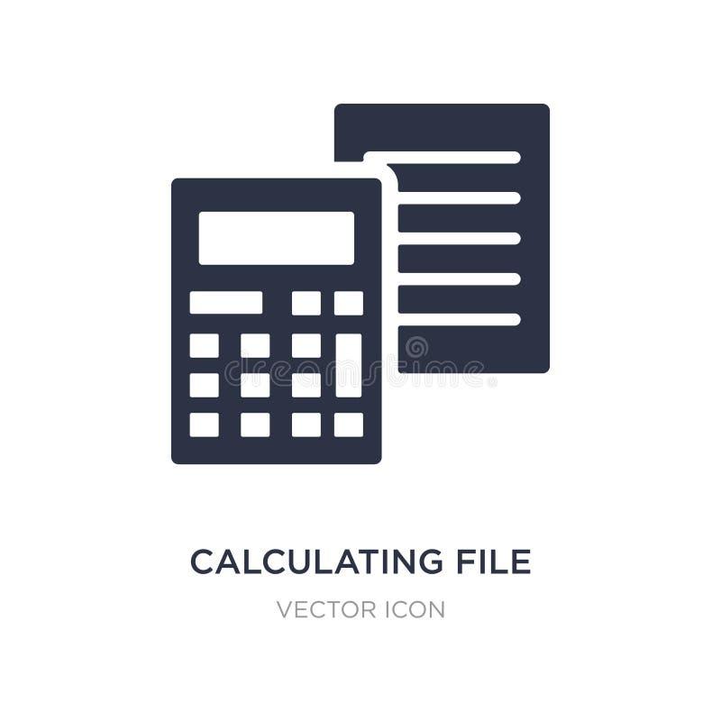 kalkulatorska kartoteki ikona na białym tle Prosta element ilustracja od Marketingowego pojęcia ilustracja wektor