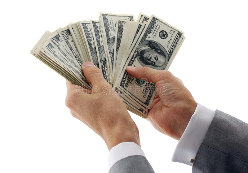 kalkulatorski biznesmena pieniądze fotografia royalty free