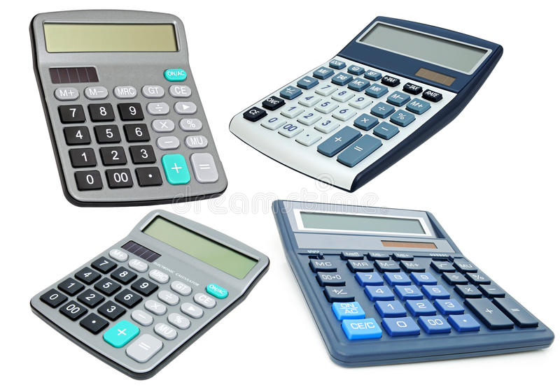 kalkulatorzy fotografia royalty free