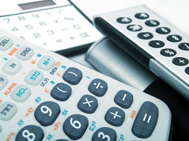 kalkulatorzy zdjęcie stock