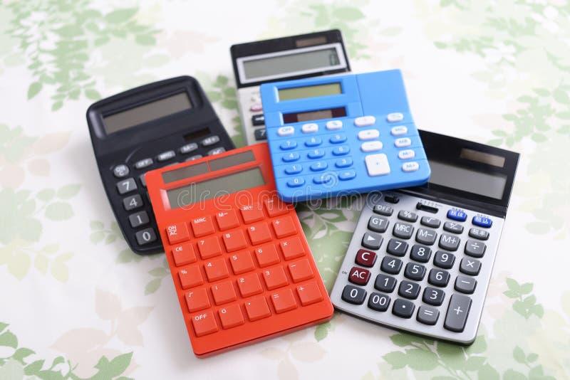 kalkulatorzy zdjęcia stock