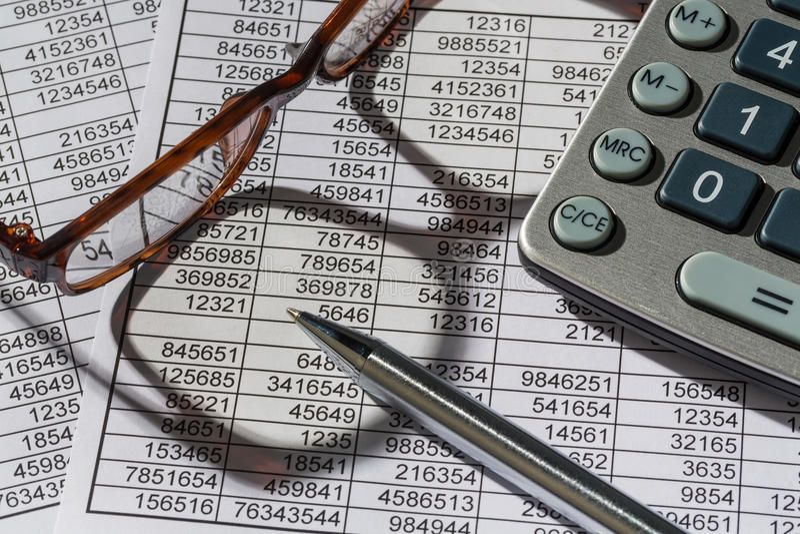 Kalkulatorzy i statistk zdjęcia royalty free