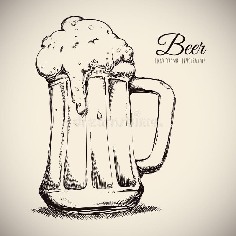 Kall öl stock illustrationer