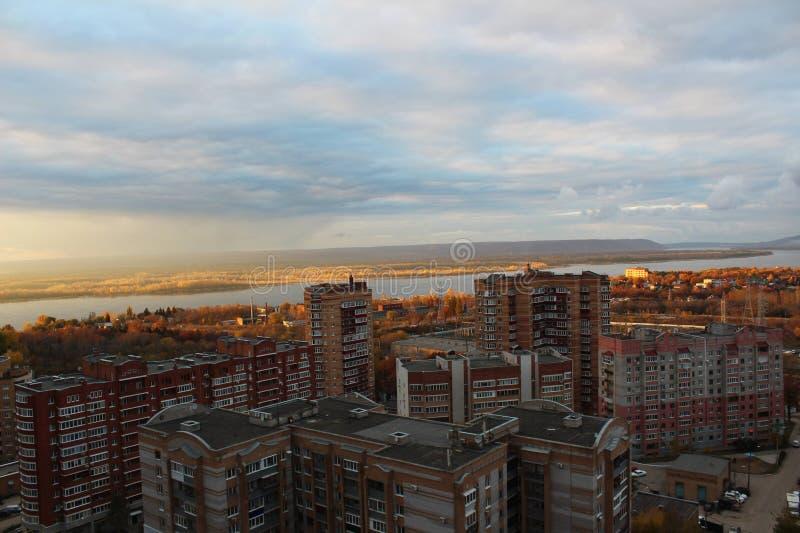Kall dag i Ryssland, Samara arkivbilder
